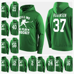 ingrosso felpa verde-2019 Canada Team Hockey Hoodies Jerseys Custom Green St Patricks Day Kiss Me Funny Player Swearshirt Rebecca Johnston Bourque Fast