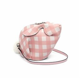 Lovely2019 Time Leisure Rabbit Head Bag Genuine Leather Woman Bag Single Shoulder Messenger Small Square Package