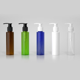 Discount empty shampoo pump containers 30pcs 100ml white cosmetic PET bottles, empty shampoo lotion pump container plastic cosmetic packaging with dispenser,sh