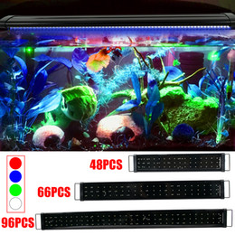 Discount freshwater shells [US]18W 66LED Full Spectrum Aquarium Light with Aluminum Alloy Shell Extendable Brackets External Controller for Freshwa
