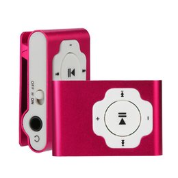 mp3 player pink clip 2020 - NEW Promotion Portable MP3 player Mini Clip MP3 Player Waterproof Sport Music Walkman Lettore cheap mp3 player pink clip
