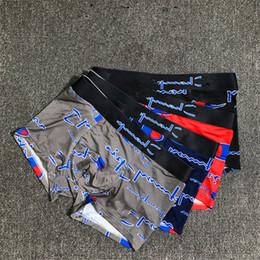 Wholesale cuecas briefs men resale online - Fashion Mens Underwear Full Letter Print Boxers CHAM Cuecas Modal Material Underpants Men Briefs Casual Breathable Shorts U Convex Boxers