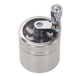 grinder smoke crusher hand muller NZ - 4 Layers Hand Crank Smoking Herbal Grinder Mini 40*43 mm Metal Tobacco Crusher With Pollen Catcher Spice Muller Tobacco Smoking Accessories