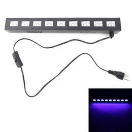 Опт Brand New и высокое качество рождественские огни AC90V-240V 27W 9 светодиодов фиолетовый свет Wedding Stage Lamp Black светодиодные фонари