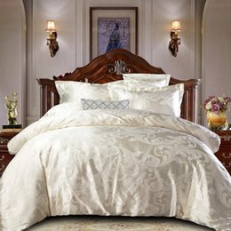 Discount jacquard bedding sets comforter set luxury Home textile Comfortable Bedding Set Solid color bed linens Duvet Cover quilt cover sheet Jacquard