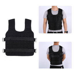 Wholesale weight vests for sale - Group buy 30KG Loading Weighted Vest Boxing Training Running Fitness Weight Training Adjustable Men Black Exercise Waistcoat Sand Clothing