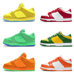 Grateful Low 5 QS Yellow Green Pink Kids Running Shoes Children Syracuse Kentucky University Red Brazil Boy Girl Trainer Baby Sports Sneaker
