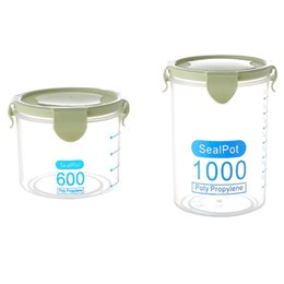 sealed jars Australia - 2 Pcs Kitchen Container Seal Pot Coffee Candy Storage Tank Plastic Cereals Box Cookie Canister Jars for Spices G