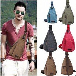 Wholesale Hot Sale Men Canvas Satchel Casual Crossbody Handbag Messenger One Sling Chest Bag Shoulder Bag Vintage PoAc#