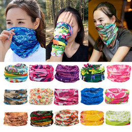 Wholesale chinese scarves resale online - Seamless Style Bandanna Headwear Scarf Wrap Cool Neck Gaiters Yoga Magic Headscarf Fishing Sun Mask Collars Muffler Scarf Face Mask Gaiters