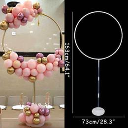 Ingrosso 163x73 cm Circle Balloon Arch Balloons telaio del supporto del banco decorazioni Wedding Kit Ba Loon festa di compleanno di Baby Shower Ballon Decor