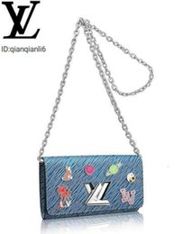 Wholesale exotic fashion dresses for sale - Group buy qianqianli6 TJR2 TWIST CHAIN WALLET M62732 NEW WOMEN FASHION SHOWS EXOTIC LEATHER BAGS ICONIC BAGS CLUTCHES EVENING CHAIN WALLETS PURSE