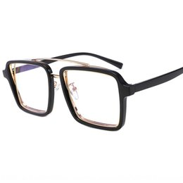 Wholesale hip hop songs online – design IWZvs Hot blooded hip hop new Korean style personalized rotating glasses Song Qian the same glasses frame trendsetter