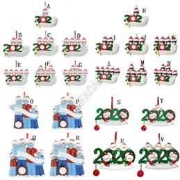 Wholesale Fashion Christmas Trees Pendant Birthdays Party Decoration Designer Personalized Family Of 2-7 Pendent Pandemic Social Distancing D91103