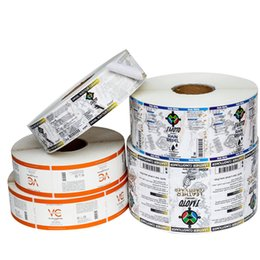 rolls pack NZ - Customized Roll Packaging Matte Self Seal Adhesive Labels Stickers Top Hot Printed Item Description Medicine Packing Stickers