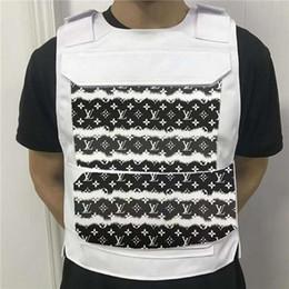 Wholesale vests for men for sale - Group buy 20 new stylish men s designer fashion vests suitable for men s women s hip hop rappers skateboard hip hop pocket sleeveless men s vest jacke