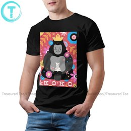 gorilla tshirt 2020 - Koko T Shirt Koko The Gorilla T-Shirt Man 5x Tee Shirt Print Short Sleeve Summer 100 Percent Cotton Tshirt cheap gorilla