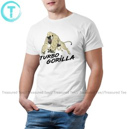 Discount gorilla tshirt Gorilla T Shirt The Turbo Gorilla By Racecar T-Shirt Short Sleeve Summer Tee Shirt Printed Man Cotton Tshirt