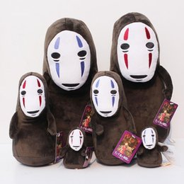 rubber face doll Australia - Spirited Away No Face Stuffed Doll Hayao Miyazaki Cartoon Movie Spirited Away Plush Soft Toys 10 -33cm Free Shipping