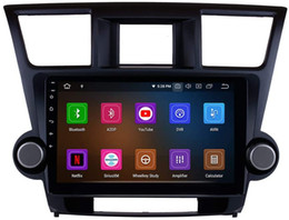 toyota highlander radio gps UK - 10.1 inch Android 10 Car Radio Player for Toyota Highlander 2008-2014 with Bluetooth WiFi GPS Navigation