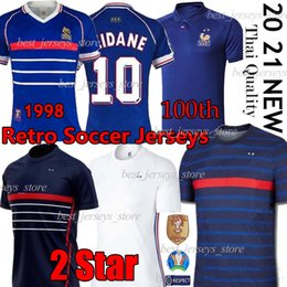 zidane jersey france NZ - 10 ZIDANE 1998 FRANCE RETRO VINTAGE ZIDANE HENRY MAILLOT DE FOOT France EURO 20 21 19 MBAPPE GRIEZMANN KANTE POGBA men kids uniforms