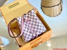 Großhandel klassische Designer Handtasche Bucket hochwertige Umhängetasche Schulter BAGM44022 echtes Leder NEONOE tote Geldbeutel freies Verschiffen mit Kasten