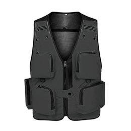 Wholesale mens travel jackets resale online – Photography Vest Multipockets Sleeveless Mens Fishing Waistcoat Jackets Travel Mesh Workout Outdoor dhzlstore WkRjV