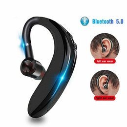 Wireless Bluetooth 5.0 Earphones Stereo Headset 300mAh Single Handsfree with Microphone Business Bluetooth Headphones For Driving