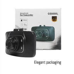 Wholesale Bestselle Night Vision Car Dvr Recorder1080P 2.7inch Car Video Vehicle Camera Video Recorder Dash Cam G-sensor HDMI GS8000L Car recorder DVR