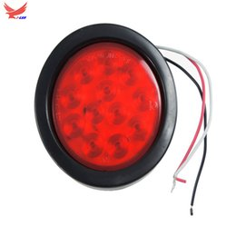 Wholesale YI-LAN 2PCS 4INCH Round 12LED Red Yellow white and Smoky black Truck Trailer Brake Stop Turn and Reverse Tail Light