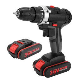 Wholesale Cordless Impact Drill Electric Screwdriver Power Tools Woodworking Pprofessional Lithium Battery Rechargeable Screwdriver 36V