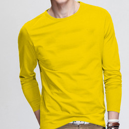 Wholesale mens causal shirt for sale - Group buy Long Sleeve Cotton Mens T Shirts Causal Sports Outwear Cool New T Shirt for Man Soft TShirt Casual Autumn Spring Crew neck Tee Shirt