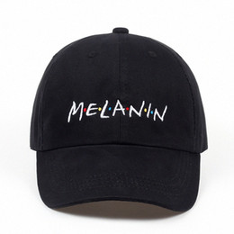 Wholesale melanin resale online - 2018 New Unisex Fashion Dad Hat Melanin Embroidery Adjustable Cotton Baseball Cap Women Sun Hats Men Casual Caps U4Rq
