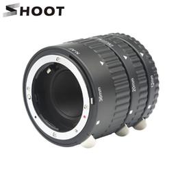 Großhandel SHOOT Autofokus Makroverlängerungs-Schlauch-Ring-Satz 12 20 36mm Adapterring für D5600 D5300 Smart D7200 DSLR AF AF-S DX G-Kamera-Objektiv