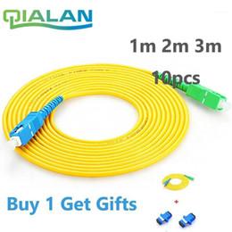 Wholesale Ftth Cable SC APC to SC UPC Patchcord 10pcs 1m 2m 3m Patch Cord G657A Simplex 2.0mm fibra Optico SM Fiber Optic Jumper1