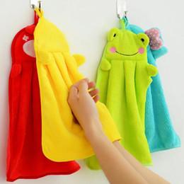 Vente en gros Serviette à main suspendue cuisine salle de bain couverte tissu doux épais épais essuie-serviette coton vaisselle nettoyage serviette accessoires