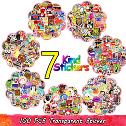 Wholesale famous movies for sale - Group buy 100PCS Random Hot Graffiti Anime Rock Retro Funny Stickers Adolescent Child Vinyl Applique Gift DIY Notebook Guitar Luggage Skate Stickers