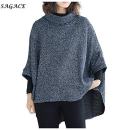Wholesale vintage sweater cape for sale - Group buy Sagace Clothes Coat Women Fashion Spring Cardigan Pullover Vintage Shawl Sweater Bat Sleeve Cape Cloak Jacket Coat Shoulder Lady