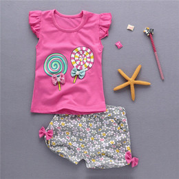 kids girls Summer cool tank outfits 6m 12m 2T 3T Toddler kids baby girls outfits cotton Tee+Shorts Pants clothes cute Set qG8r#