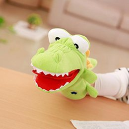 Wholesale shark puppet for sale - Group buy Plush Hand Puppets Crocodile Shark Frog Toy Mouth Movable Kindergarten Home Interactive Kids Adults Stuffed Puppets Props wmtmcT