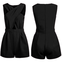 sexy celeb overall großhandel-Großhandel New Sexy Womens Celeb Backless Playsuit Jumpsuit Strampler Shorts Summer Beach1