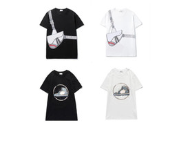 Wholesale shirt designs resale online - Mens Design Tshirt Summer New Hot Sale style shirts Mens and Womens Short Sleeve Round Neck Cotton