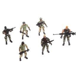 6 Polis Erkek Ordu Askerler Modeli Çocuk Çocuk Oyun Eylem Şekil Noel Oyuncak Hediye