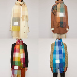 Wool scarf new rainbow grid fringed shawl for male and female New Fashion Plaid Thick Brand Shawls and Scarves for Women on Sale