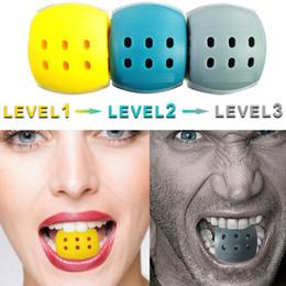 Venta al por mayor de 3 niveles Jawline Ejercicio Jaw Line Terciation Fitness Ball Cuello Face Toning Jawrsize Jaw Muscle Training Supplies