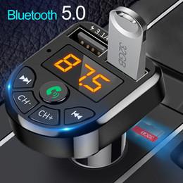 Bluetooth 5.0 FM-передатчик Автомобильный комплект MP3 Модулятор Игрок Беспроводной Handsree Audio Reitiver Dual USB быстрое зарядное устройство 3.1A на Распродаже