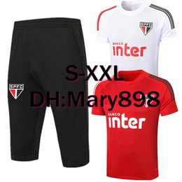 Wholesale set soccer t shirts for sale – designer New hot Sao Paulo Soccer Sets Tracksuits Sao paulo training wear Can be sold separately T shirt pants S XXL