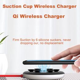 Novo carregador sem fio de ventosa de aranha para iPhone XR XS portátil Fast Wireless Pad de carregamento sem fio para Samsung Absorption Charger sem fio DHL em Promoção