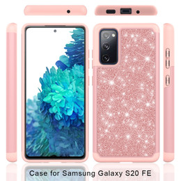 glitter samsung galaxy grand case Australia - Glitter Bling Hybrid case for Samsung S10 S10e S9 S20 FE Note 20 Plus J2 J5 Grand Prime J3 J7 2018 Shockproof cover