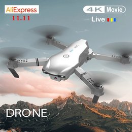 Wholesale RC Drone UAV Wifi Quadrocopter with Camera 4K Folding 4-Axis Fixed Height Folding Aerial Remote Control Aircraft Global Hot Toys 201208